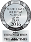 South East Lettings Agency of the Year 2016